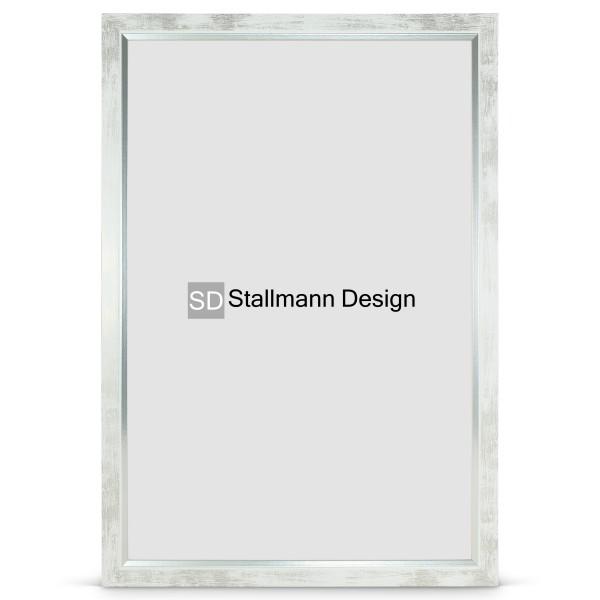 Stallmann Design Bilderrahmen weiß gewischt, 30x40 MDF »my Frames«